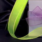 "Organza Shimmer Apple Green 1"" Organza Ribbon"